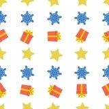 Kerstmis semless patroon met sneeuwvlok royalty-vrije illustratie