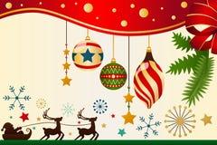 Kerstmis siert Achtergrond Royalty-vrije Stock Foto