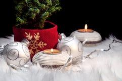 Kerstmis siert feestelijke abstracte symboolstemming Stock Fotografie