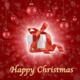 Kerstmis siert samenstelling Royalty-vrije Stock Foto