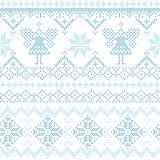 Kerstmis Skandinavische Kaart Stock Afbeelding