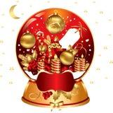 Kerstmis snowglobe Royalty-vrije Stock Foto's
