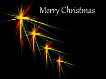 Kerstmis speelt fractal met vrolijke Kerstmisteksten mee Stock Afbeelding