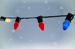 Kerstmis steekt Achtergrond aan Stock Foto's