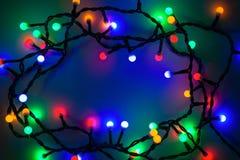 Kerstmis steekt achtergrond aan Stock Foto