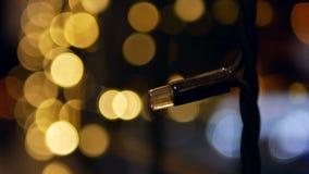 Kerstmis steekt bokeh aan stock videobeelden
