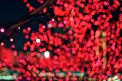 Kerstmis steekt bokeh aan Stock Afbeelding