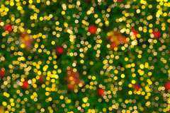 Kerstmis steekt bokeh aan Royalty-vrije Stock Foto's