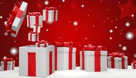 Kerstmis stelt 3d-illustratie voor vector illustratie