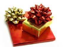 Kerstmis stelt in glanzende folieomslagen voor Royalty-vrije Stock Fotografie