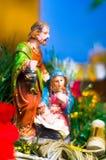 Kerstmis stelt Maria en Joseph voor stock foto's