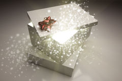 Kerstmis stelt met iets Heldere en Magische Komst uit voor Stock Afbeelding