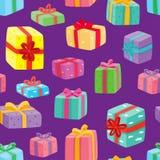 Kerstmis stelt naadloos patroon voor Royalty-vrije Stock Afbeelding