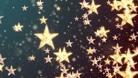 Kerstmis sterren 1 stock footage