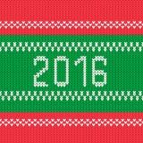Kerstmis 2016 stijl gebreid ornament als achtergrond Stock Fotografie
