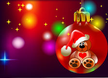 Kerstmis Teddy Royalty-vrije Stock Afbeelding