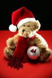 Kerstmis Teddy Royalty-vrije Stock Afbeeldingen