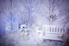 Kerstmis Teddy Bear Stock Afbeeldingen