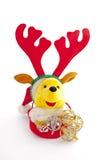 Kerstmis Teddy Bear Wearing Reindeer Antlers 2 Royalty-vrije Stock Fotografie