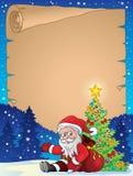 Kerstmis thematisch perkament 8 Stock Foto