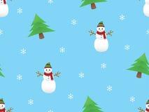Kerstmis themed naadloos patroon Royalty-vrije Stock Foto