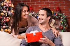 Kerstmis is tijd voor het geven Stock Afbeeldingen