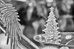 Kerstmis traditioneel in zwart-wit Royalty-vrije Stock Afbeelding