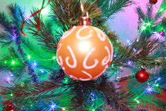 Kerstmis tree& x27; s stuk speelgoed Royalty-vrije Stock Foto