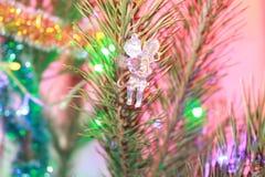 Kerstmis tree& x27; s stuk speelgoed Stock Afbeeldingen