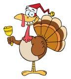Kerstmis Turkije dat een klok belt stock foto
