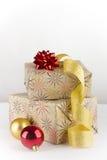Kerstmis twee stelt voor Royalty-vrije Stock Foto's