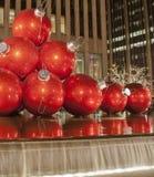 Kerstmis in Uit het stadscentrum Manhattan Stock Foto