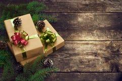 Kerstmis uitstekende achtergronden Stock Foto