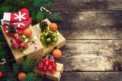 Kerstmis uitstekende achtergronden Royalty-vrije Stock Foto's