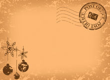 Kerstmis uitstekende prentbriefkaar - vector Royalty-vrije Stock Fotografie