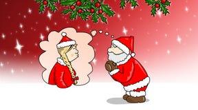 Kerstmis-valentijnskaart Stock Afbeeldingen