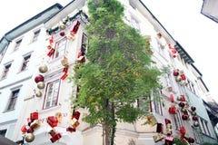 Kerstmis van Bolzano Stock Afbeeldingen