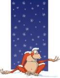 Kerstmis van de aap Stock Foto