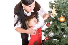Kerstmis van de familie stock fotografie