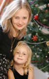 Kerstmis van de familie stock foto