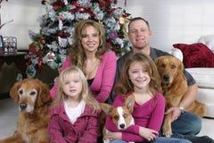 Kerstmis van de familie royalty-vrije stock afbeelding