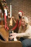 Kerstmis van de familie Royalty-vrije Stock Foto