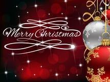Kerstmis van de fonkelingswerveling Royalty-vrije Stock Foto