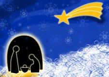Kerstmis van de geboorte van Christus Stock Afbeelding