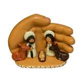 Kerstmis van de geboorte van Christusscène Stock Foto