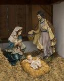 Kerstmis van de geboorte van Christusscène Stock Afbeelding