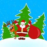Kerstmis van de Kerstman Mery Stock Afbeelding