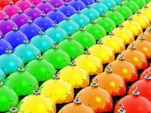 Kerstmis van de regenboog Stock Afbeelding