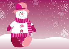 Kerstmis van de sneeuwman Stock Afbeelding