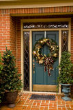 Kerstmis van de voordeur Stock Foto's
